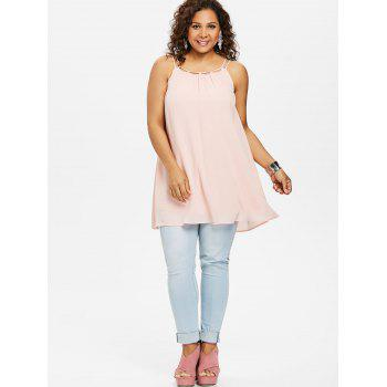 Plus Size Ethereal Cami Tank Top - LIGHT PINK 1X
