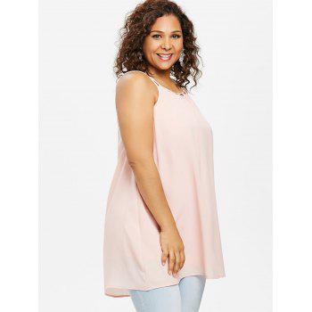 Plus Size Ethereal Cami Tank Top - LIGHT PINK 2X
