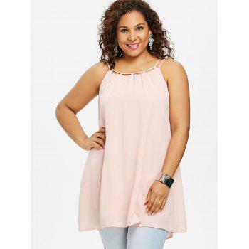 Plus Size Ethereal Cami Tank Top - LIGHT PINK 5X