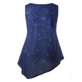 Plus Size Graphic Relaxed Tank Top - BLUEBERRY BLUE L
