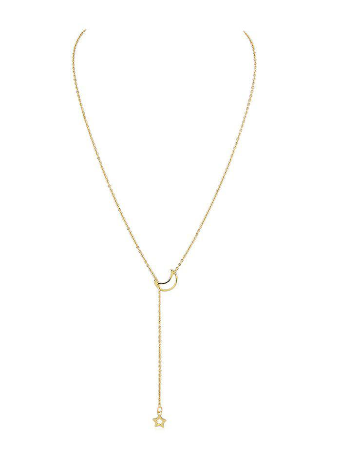 Star Moon Decoration Chain Necklace - GOLD
