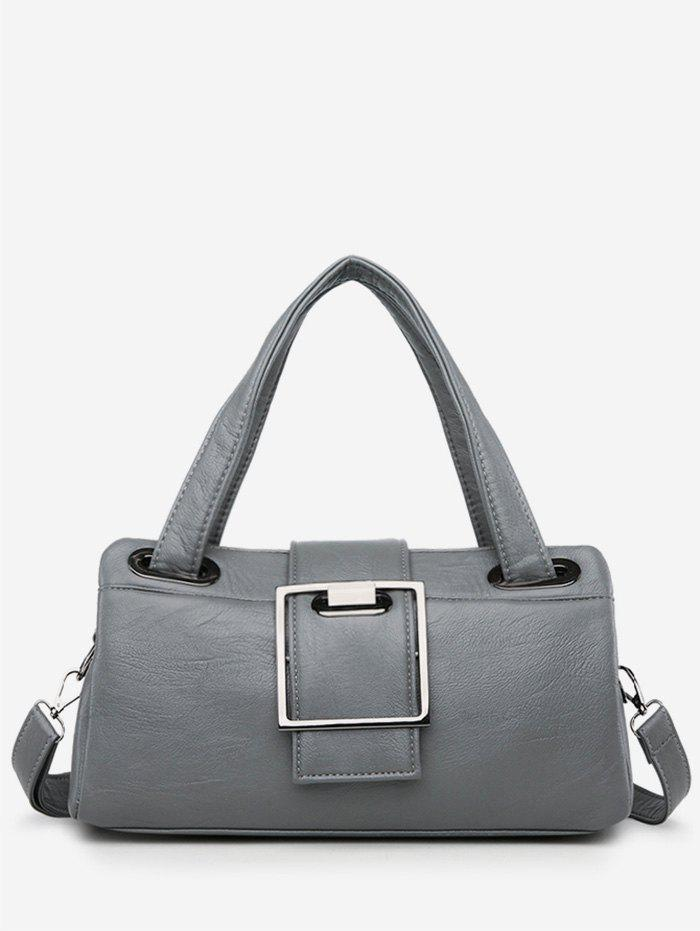 Chic Faux Leather Minimalist Tote Bag with Strap faux leather minimalist practical 3 pieces tote bag set page 1