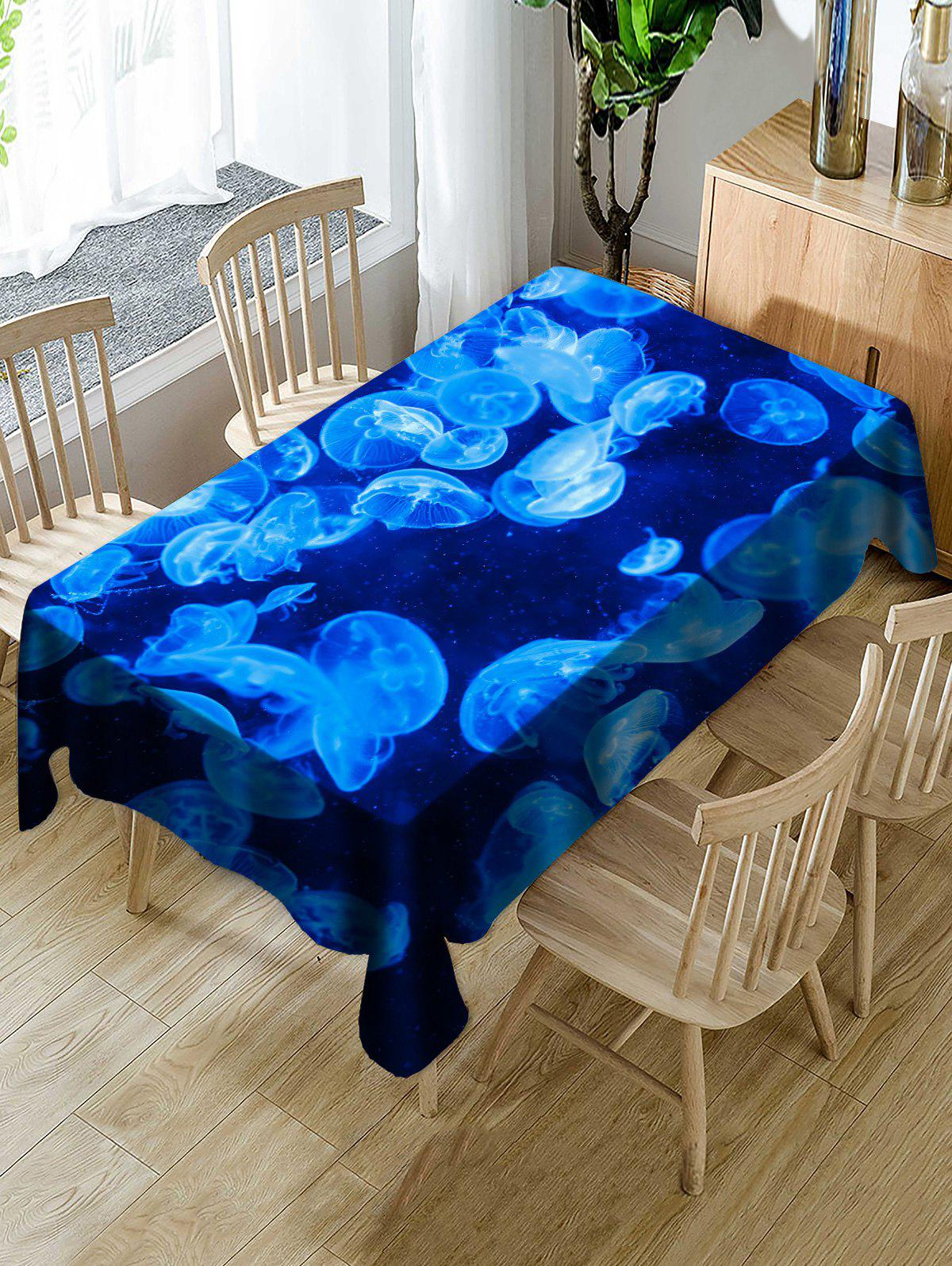 Jellyfish Printed Decoration Table Cover - BLUE W54 INCH * L72 INCH