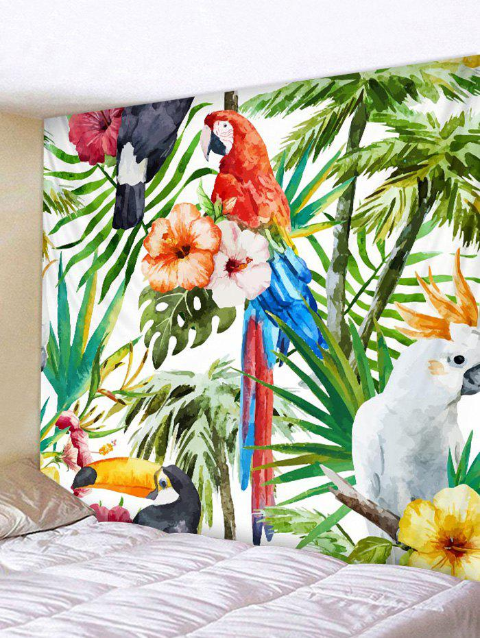 Parrot Toucan in Rainforest Print Wall Decor Tapestry the art of marvel vol 2