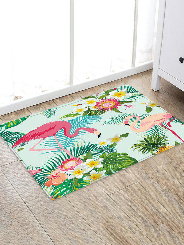 Uhommi Flamingos Rainforest Plants Printed Skidproof Floor Mat аксессуар moon weston pointer x power 600