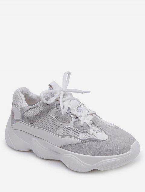Casual Short Trip Lightweight Running Sneakers - WHITE 39