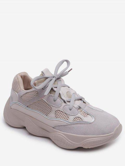Casual Short Trip Lightweight Running Sneakers - BEIGE 40