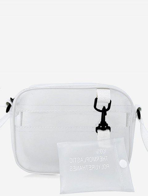 Daily Shopping Minimalist Jelly Lucid Sling Bag - TRANSPARENT