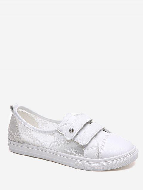 Leisure Breathable Anti Slip Skate Shoes - WHITE 38