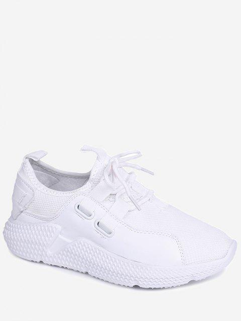 Lightweight Outdoor Athletic Walking Sneakers - WHITE 35