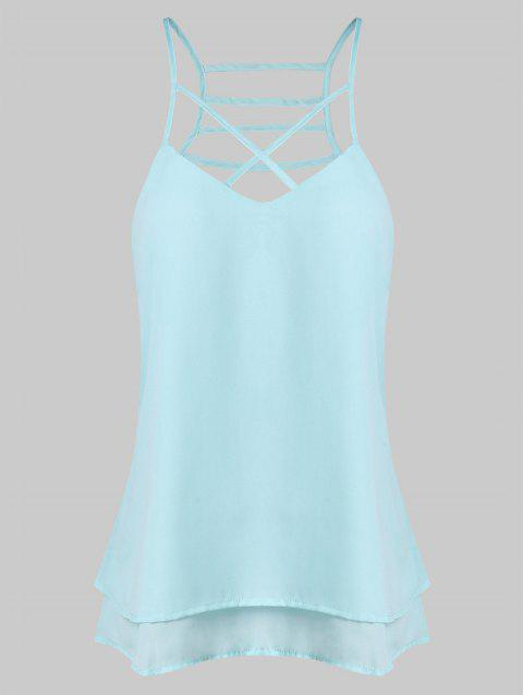 Strappy Layered Cami Top - BLUE LAGOON L
