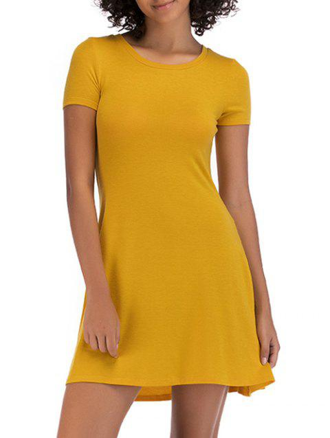 Short Sleeve Fit Casual Tunic Dress