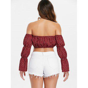 Off The Shoulder Crop Top - RED S