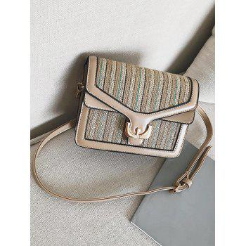 Casual Vacation Splicing Flap Sling Bag - LIGHT KHAKI