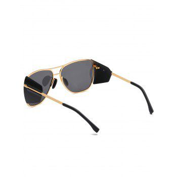Anti Fatigue Top Bar Frog Mirror Sunglasses - ORANGE GOLD