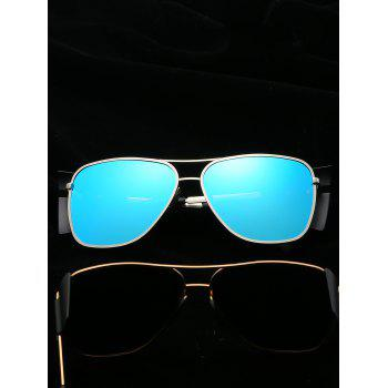 Anti Fatigue Top Bar Frog Mirror Sunglasses - BUTTERFLY BLUE