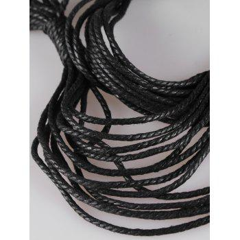 Bohemian Braided Rope Adjustable Belt - BLACK