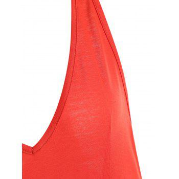High Slit Racerback Maxi Bodycon Dress - SCARLET 2XL
