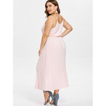 Plus Size Midi Cami Dress - PINK BUBBLEGUM 4X