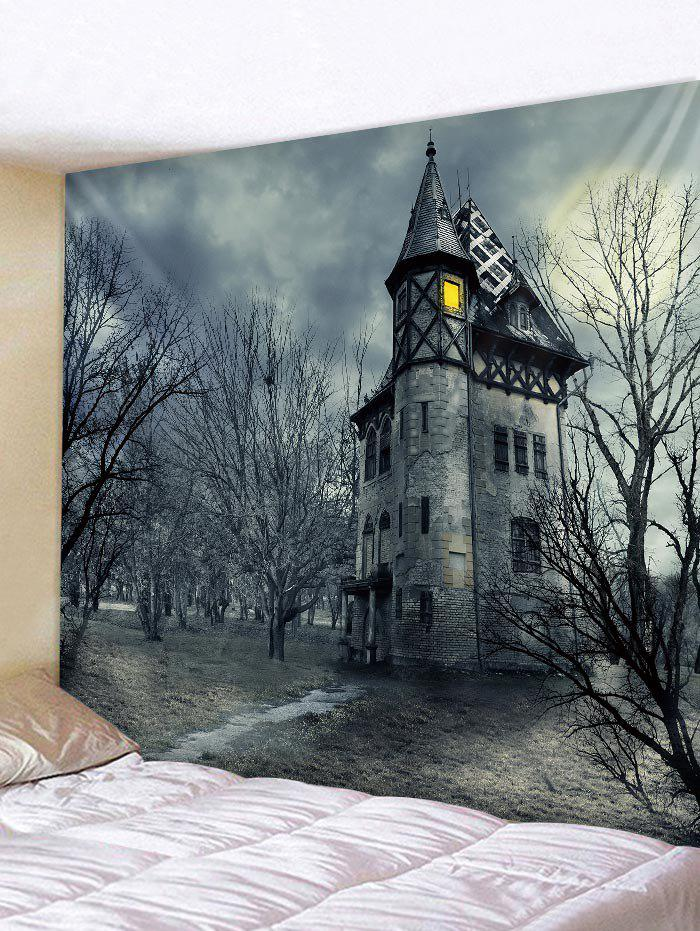 Dark Castle Pattern Tapestry Wall Hanging Decor sunsonny t m30 usb 2 0 wired 600 1200 1800dpi led optical gaming mouse black cable 160cm