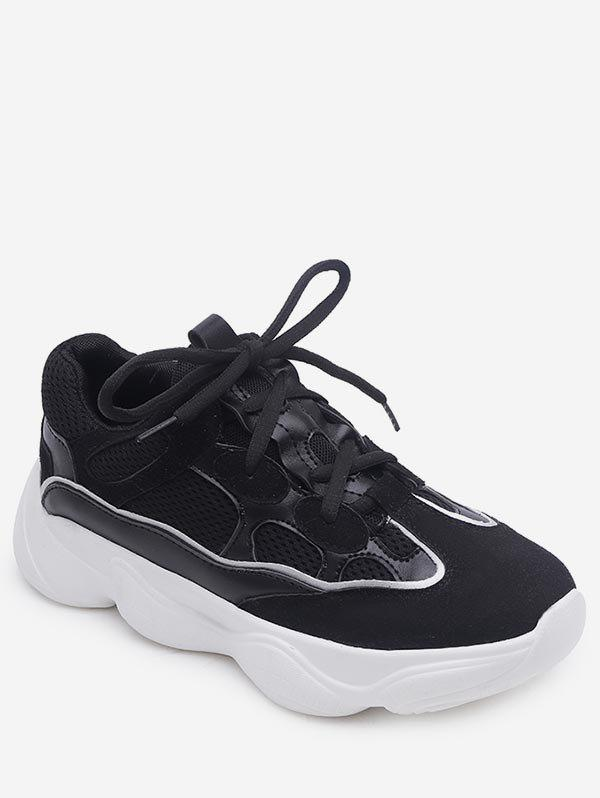 Casual Short Trip Lightweight Running Sneakers - BLACK 38