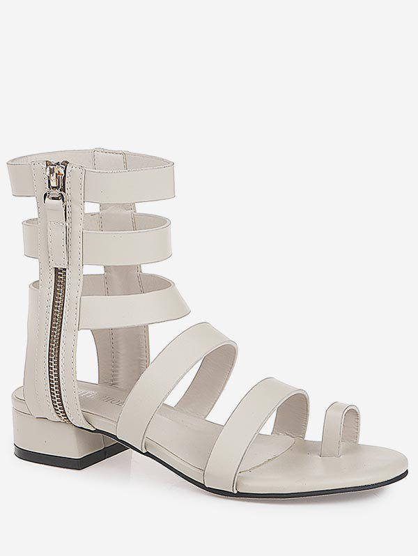 Casual Strappy Side Zipper Gladiator Ankle Sandals