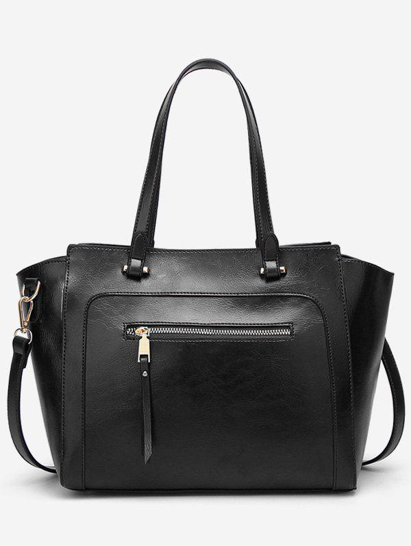 Casual Outdoor Shopping Minimalist Tote Bag - BLACK