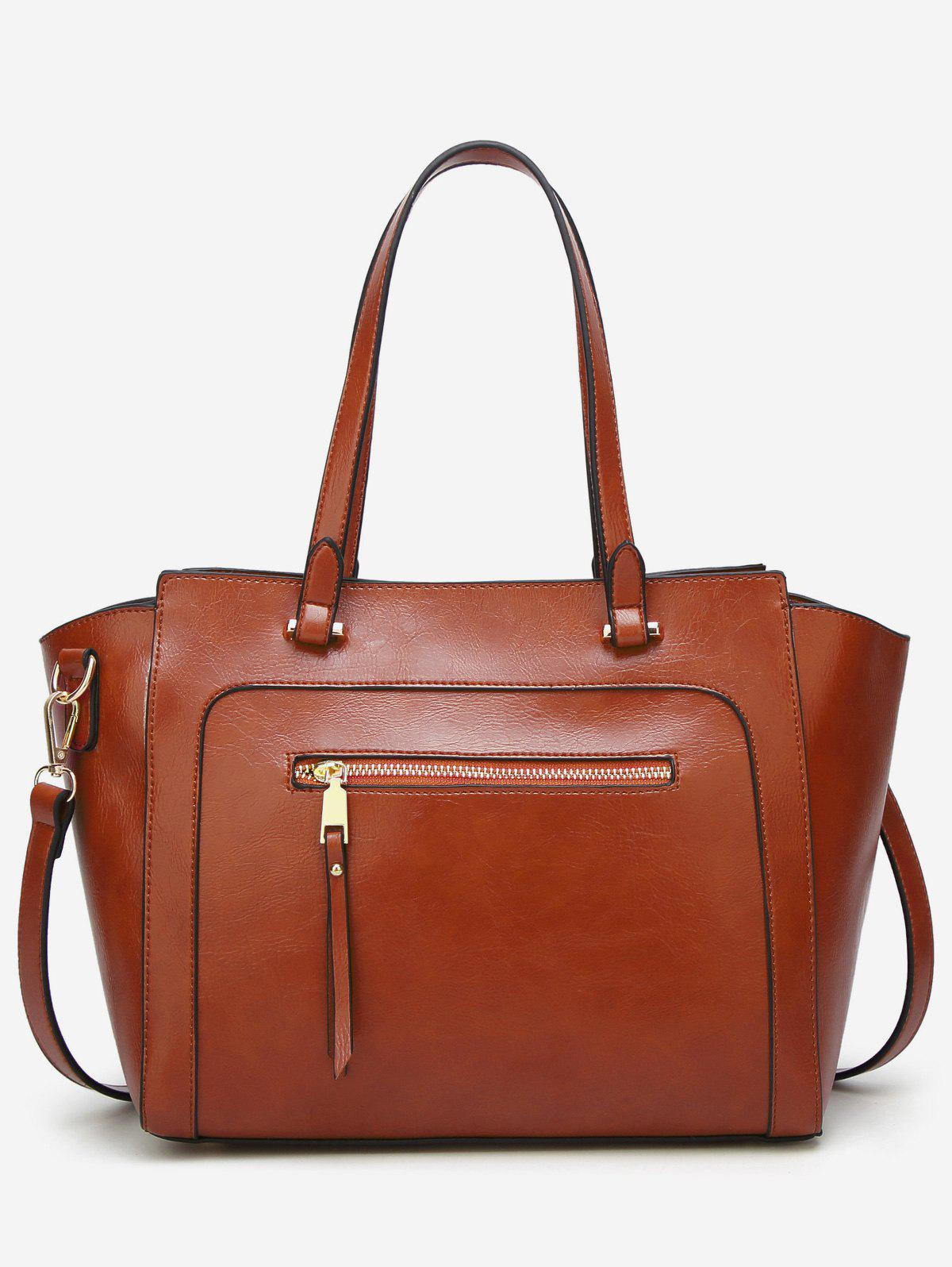 Casual Outdoor Shopping Minimalist Tote Bag - BROWN