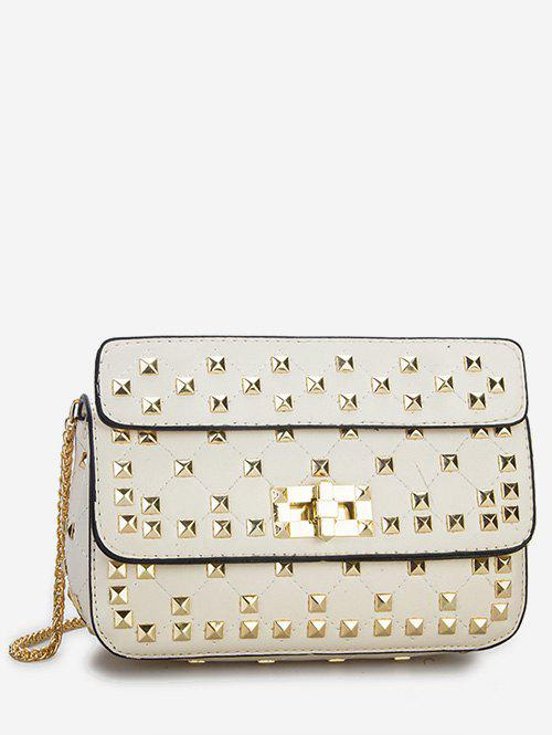 Dresslily Twist Lock All Over Studs Chain Sling Bag