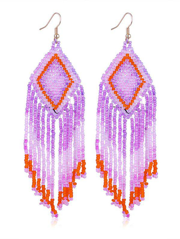 Geometric Beads Tassel Long Dangle Earrings мангал барбекю шашлык original bbq 20