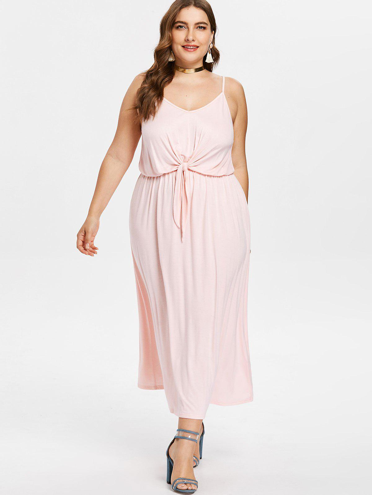 Robe Mi-longue en Camisole - Chewing Gum Rose 1X