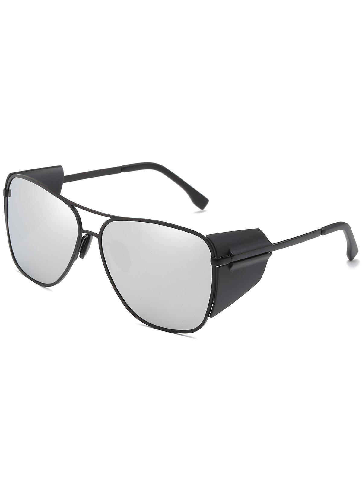 Anti Fatigue Top Bar Frog Mirror Sunglasses - PLATINUM