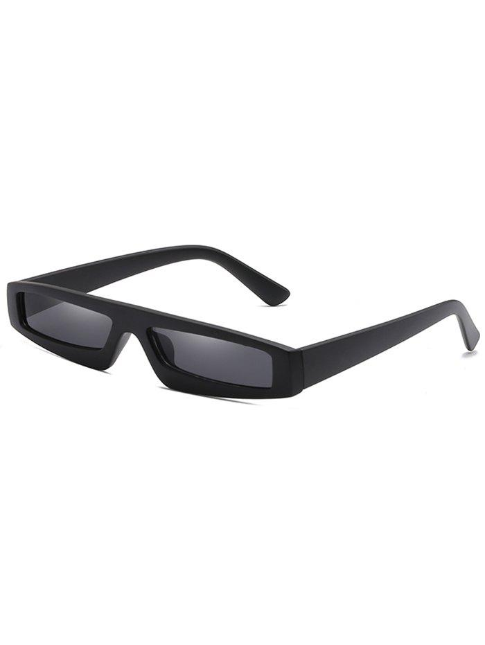 Anti UV Flat Lens Rectangle Sunglasses - NIGHT