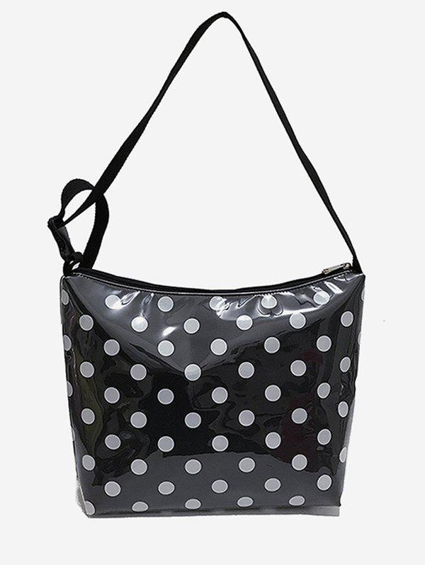 Casual Short Trip Polka Dot Shoulder Bag - BLACK