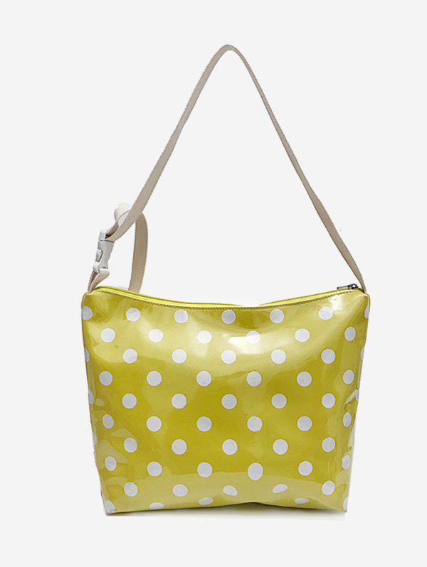 Casual Short Trip Polka Dot Shoulder Bag - YELLOW