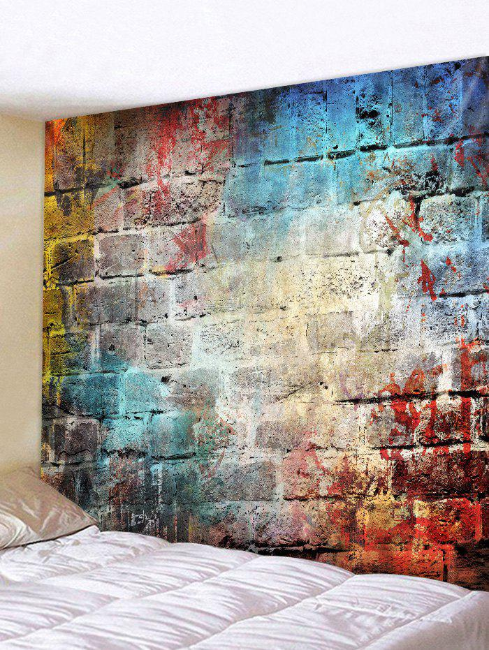 Graffiti Brick Wall Pattern Tapestry Decoration graffiti pattern splice sneakers