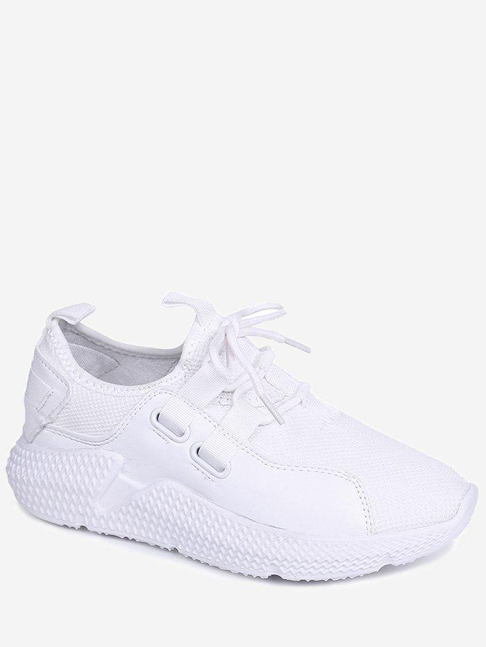 Lightweight Outdoor Athletic Walking Sneakers - WHITE 36