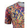 Short Sleeve Allover Colormix Print Tee - ORANGE GOLD S