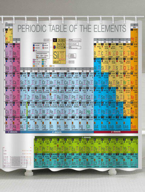 Chemical Elements Print Waterproof Shower Curtain - multicolor W71 INCH * L71 INCH