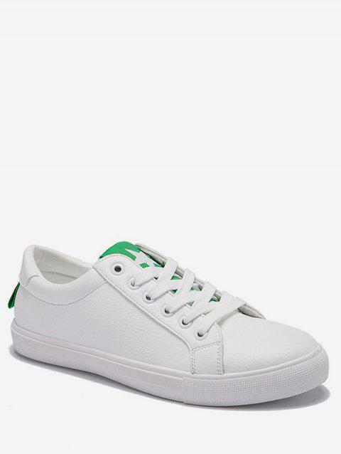 Low Heel Lightweight Contrasting Color Skate Shoes - GREEN 38