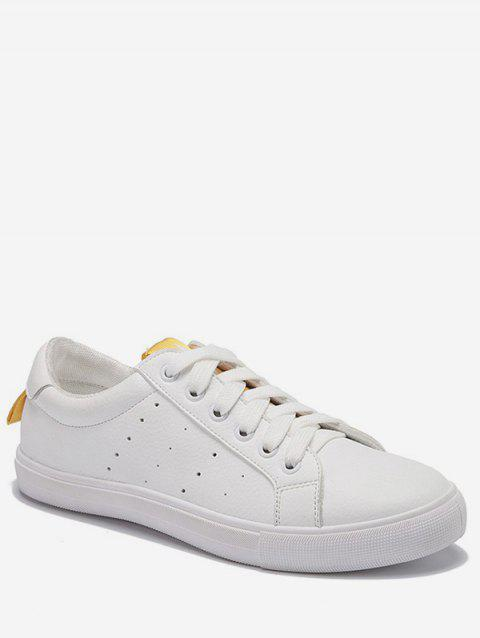 Low Heel Lightweight Contrasting Color Skate Shoes - YELLOW 36