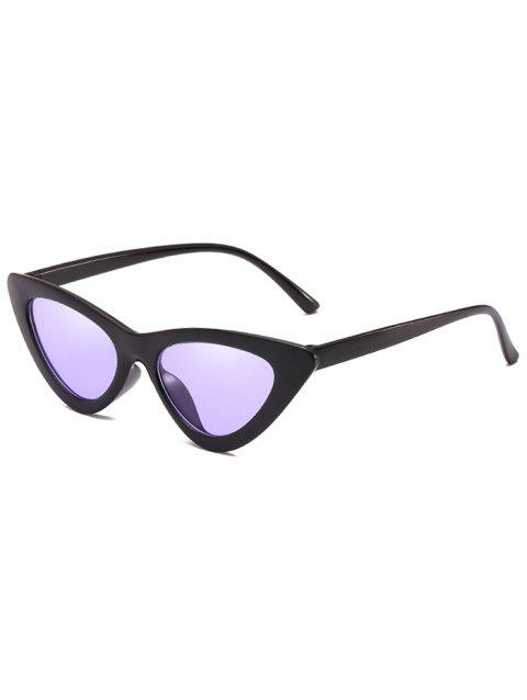 Vintage Full Frame Flat Lens Catty Sunglasses - HELIOTROPE PURPLE
