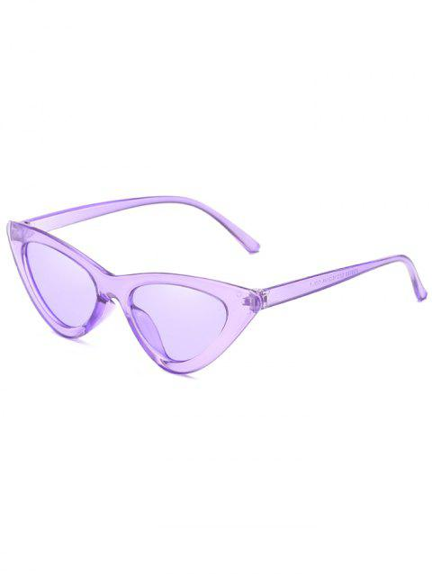 Vintage Full Frame Flat Lens Catty Sunglasses - MAUVE