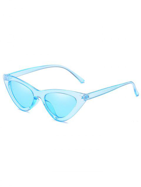 Vintage Full Frame Flat Lens Catty Sunglasses - DAY SKY BLUE