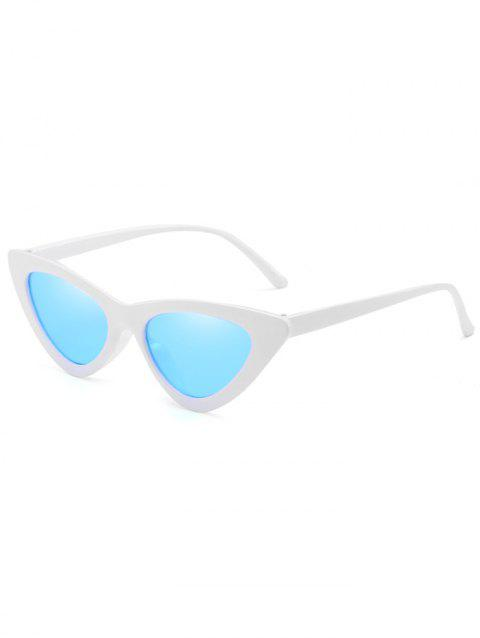 Vintage Full Frame Flat Lens Catty Sunglasses - DENIM BLUE