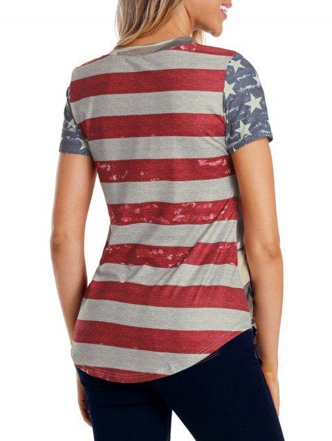 American Flag Camouflage T-shirt - multicolor S