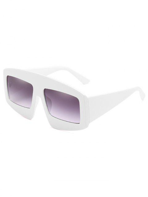 UV Protection Wide Frame Driving Sunglasses - MILK WHITE