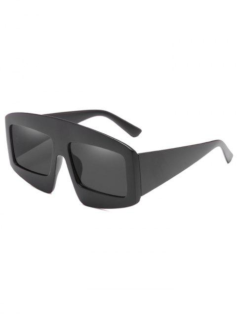 UV Protection Wide Frame Driving Sunglasses - BLACK