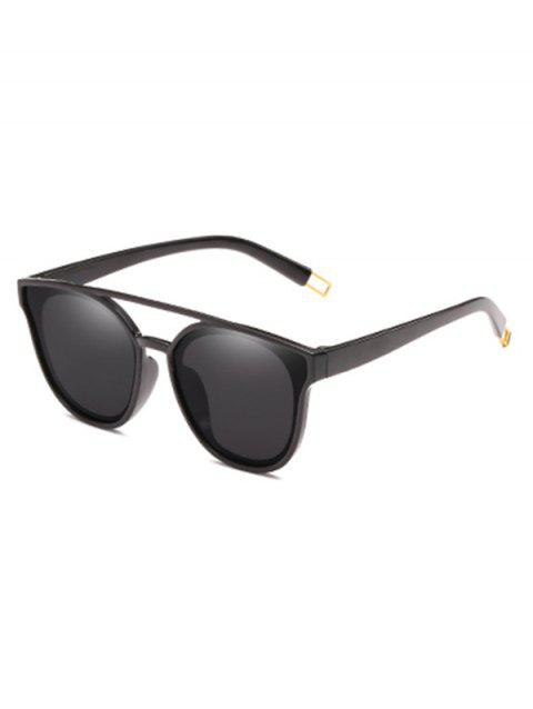 Outdoor Top Bar Flat Lens Sun Shades Sunglasses - BLACK