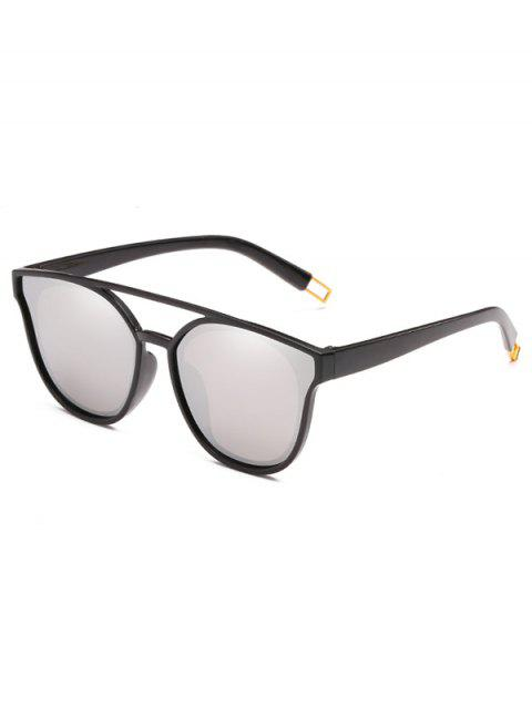Outdoor Top Bar Flat Lens Sun Shades Sunglasses - PLATINUM
